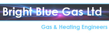 bright blue gas logo